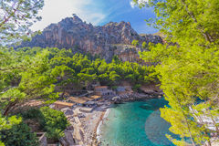 Sa Calobra on Mallorca Island, Spain. Beautiful view of Sa Calobra on Mallorca Island, Spain Royalty Free Stock Photo