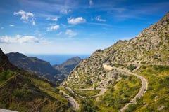 Sa Calobra na Mallorca wyspie, Hiszpania Obraz Royalty Free