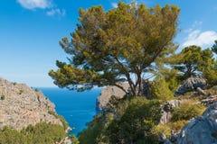 Sa Calobra op het Eiland van Mallorca, Spanje royalty-vrije stock afbeelding