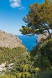 Sa Calobra op het Eiland van Mallorca, Spanje stock foto