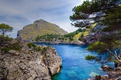 Sa Calobra på Majorca Royaltyfri Fotografi
