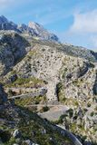 Sa Calobra road in Majorca Royalty Free Stock Photo