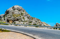 向Sa Calobra的路在Serra de Tramuntana -山在Mallorc 免版税库存照片
