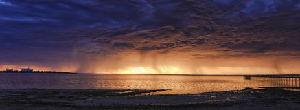 SA Ceduna海湾风暴集合 库存图片