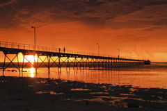 SA Ceduna Red low jetty Royalty Free Stock Images