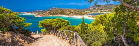 Sa Colonia beach, Chia resort, Sardinia, Italy Royalty Free Stock Photography