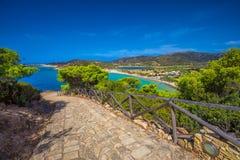 Sa Colonia beach, Sardinia, Italy, Europe Stock Photos