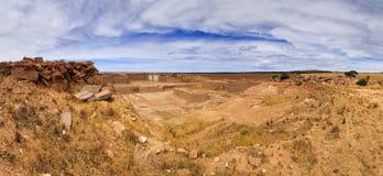SA Granite Quary vertical panorama Stock Photo