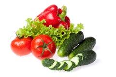 sałat grupowi warzywa Zdjęcia Royalty Free