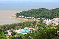 Sa Hac海滩,澳门,中国 免版税库存照片