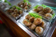 Sa-Ku Sai Muu della carne di maiale della tapioca immagini stock