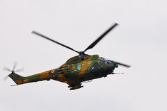 SA 330L PUMA helicopter at BIAS 2015 Royalty Free Stock Photo
