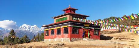 Sa lub Zasa gompa lub monaster, Solukhumbu, Nepal zdjęcie royalty free
