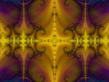 Sa Majesté parmi des fractales illustration de vecteur