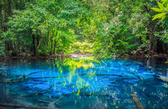 Sa Nam Phut is beautiful spring pool in the forest national park Royalty Free Stock Images