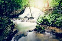 Sa Nang Manora小瀑布瀑布, Phang Nga,泰国 免版税库存图片