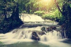 Sa Nang Manora小瀑布瀑布, Phang Nga,泰国 库存照片