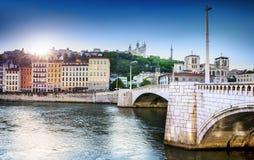 Saône Франция Лиона Стоковое Изображение RF