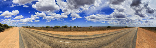 SA Nullarbor Road Vert panorama Stock Photos