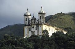 SA£oo弗朗西斯科de宝拉教会在欧鲁普雷图,巴西 图库摄影