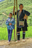 Sa Pa的人们在越南 库存图片
