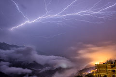 Sa Pa night lightning Royalty Free Stock Images
