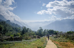 Sa Pa Valley. Locals and tourists walking through Sa Pa Valley Stock Images