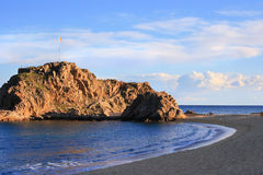 Sa Palomera (Costa Brava). The rock of Sa Palomera (Blanes, Spain),  where the Costa Brava starts Stock Image