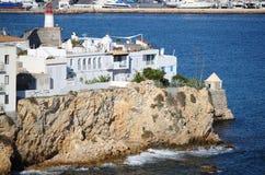 Sa Penya Distric w Ibiza Obrazy Royalty Free