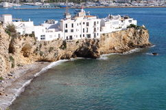 Sa Penya District in Ibiza. Town, Balearic Islands, Spain Stock Images