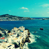 Sa Penya District in Ibiza Town, Balearic Islands, Spain Stock Photography