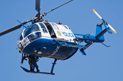 A SA Police Bo 105 helicopter with sniper Royalty Free Stock Photography