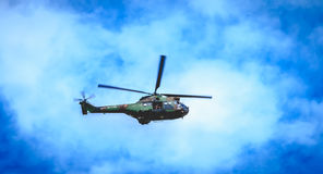 SA330 Puma helicopter from the Sud-Aviation company of the army. Paris, FRANCE - july 11, 2017: A SA330 Puma helicopter from the Sud-Aviation company of the army Royalty Free Stock Images