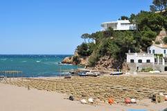 Sa Riera beach in the Costa Brava, Spain Royalty Free Stock Photo
