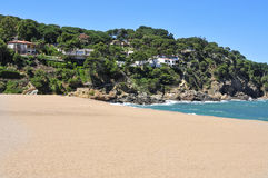 Sa Riera beach in the Costa Brava, Spain Stock Image