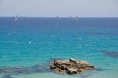 Sa Ruxi, Villasimius, Sardinige, Italië Stock Afbeeldingen