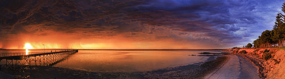 SA Sea Ceduna Night 2 Day pan Royalty Free Stock Image