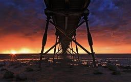 SA Sea Ceduna Under Jetty Sunset Stock Images