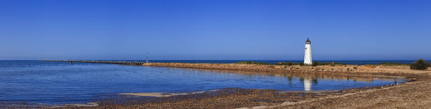 SA Sea Long Jetty horizon pan Royalty Free Stock Photography