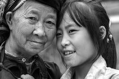 Sa situation ethnique de petits-enfants dans Ha Giang, Vietnam Images libres de droits