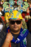 SA Soccer Supporter - FIFA WC stock photography