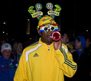 SA Soccer Supporter - FIFA WC Royalty Free Stock Photography