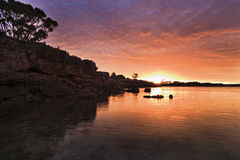 SA Streaky bay sun cliff Royalty Free Stock Image
