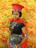 SA Tradition Model. South African Tradition Model in Zulu attire Royalty Free Stock Images
