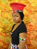 SA Tradition Model. South African Tradition Model in Zulu attire Stock Images