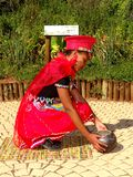 SA Traditional Model posing South Africa. Traditional models posing  in zulu attires Stock Photography