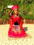 SA Traditional Model posing South Africa. Traditional models posing  in zulu attires Royalty Free Stock Photos