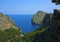Sa tranquilo Calobra, Majorca Imagem de Stock Royalty Free