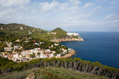 Sa Tuna coast in Spain Stock Photography