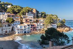 Sa Tuna, a fishermen village in Costa Brava Royalty Free Stock Photos